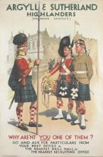 Colour recruiting poster for the Argyll and Sutherland Highlanders